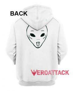 Alien Funny Face White Color Hoodie