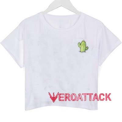 Little Cactus crop shirt graphic print tee for women
