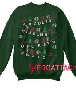 Alphabet Christmas Unisex Sweatshirts