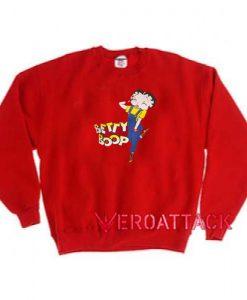 Betty Boop Red Unisex Sweatshirts