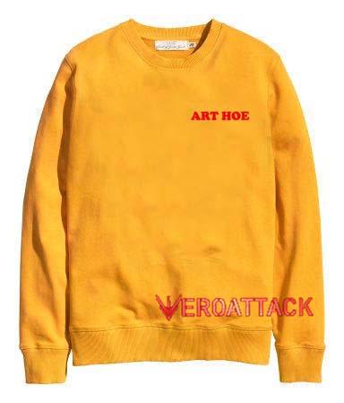 Art Hoe gold yellow Unisex Sweatshirts