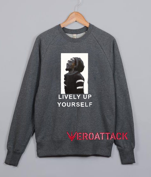 Bob Marley Lively Up Yourself Dark Grey Unisex Sweatshirts