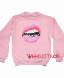 Lips Grill light pink Unisex Sweatshirts