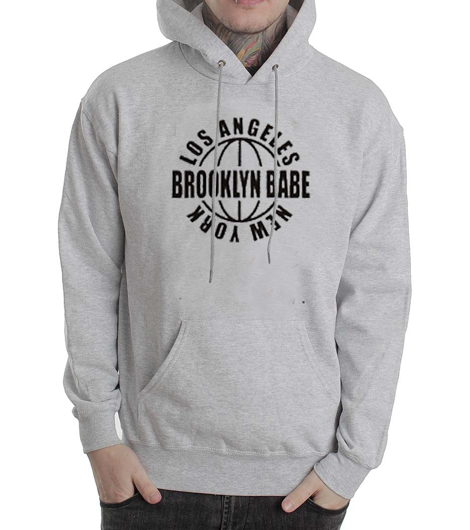 05d2e6136 Los Angeles Brooklyn Babe New York Grey Color Hoodie