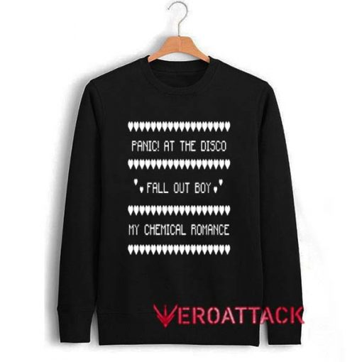 Panic At The Disco Fall Out Boy My Chemical Romance Christmas Unisex Sweatshirts