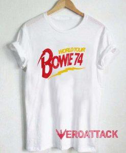 World Tour Bowie 74 T Shirt Size XS,S,M,L,XL,2XL,3XL