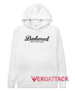 Badwood Made In Los Angeles White Color Hoodie