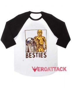 Besties raglan unisex tee shirt for adult men and women