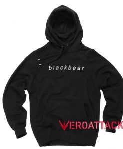Black Bear Black Color Hoodie