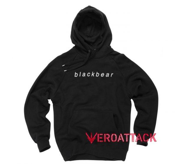 Black Bear Black Color Hoodie