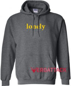 Lonely Dark Grey Color Hoodie