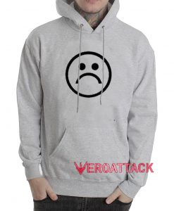 Sad emoji Grey Color Hoodie