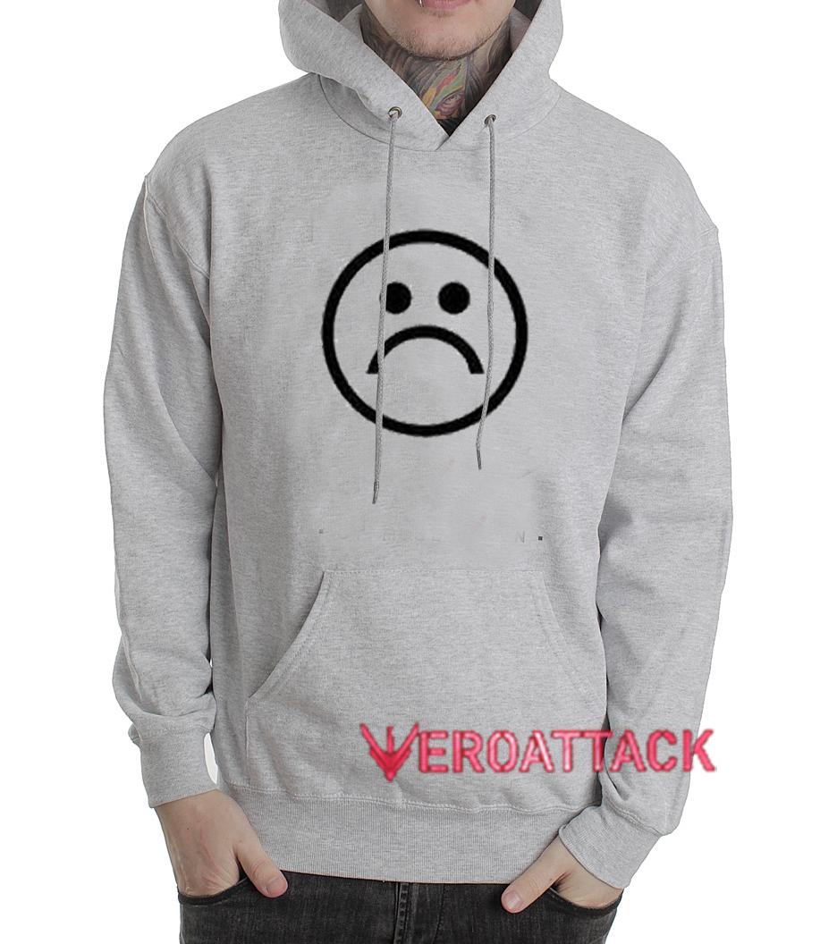 Sad emoji Grey Color Hoodie