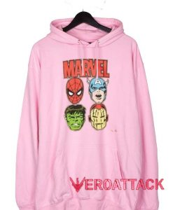 Marvel Superhero Vintage Light Pink Color Hoodie