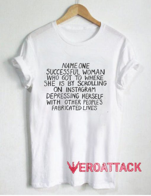 Name On Successful Woman Quotes T Shirt Size XS,S,M,L,XL,2XL,3XL