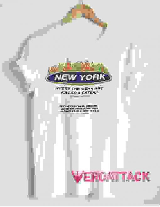 New York Where The Weak Are Killed and Eaten T Shirt Size XS,S,M,L,XL,2XL,3XL