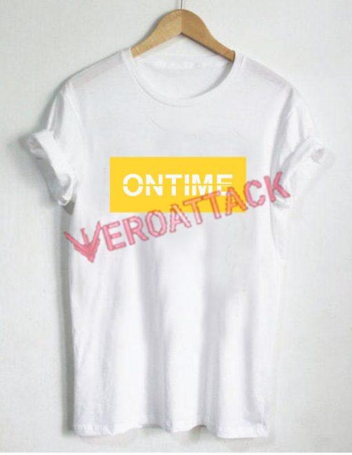 Ontime Shirt Size XS,S,M,L,XL,2XL,3XL