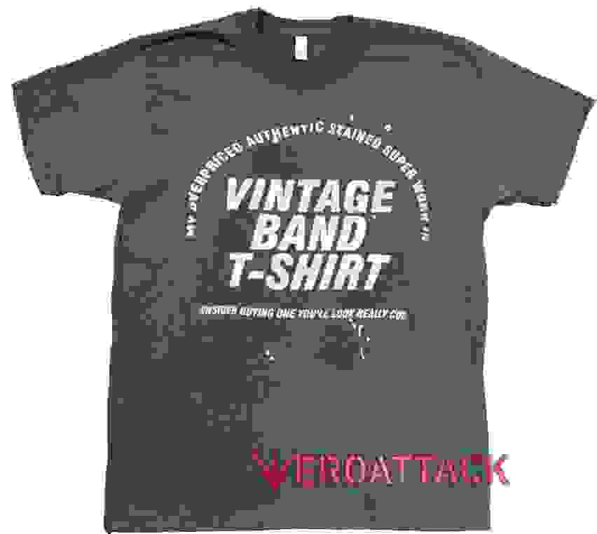 63dadc18f Vintage Band TShirt Dark Grey T Shirt Size S,M,L,XL,2XL,3XL