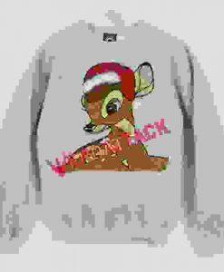 Bambi Print Unisex Sweatshirts