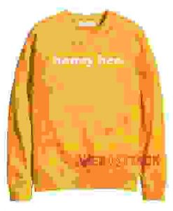 Honey Bee gold yellow Unisex Sweatshirts