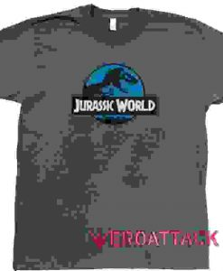 Jurassic World Logos Dark Grey T Shirt Size S,M,L,XL,2XL,3XL