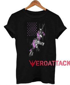 Military Breast Cancer Awareness T Shirt