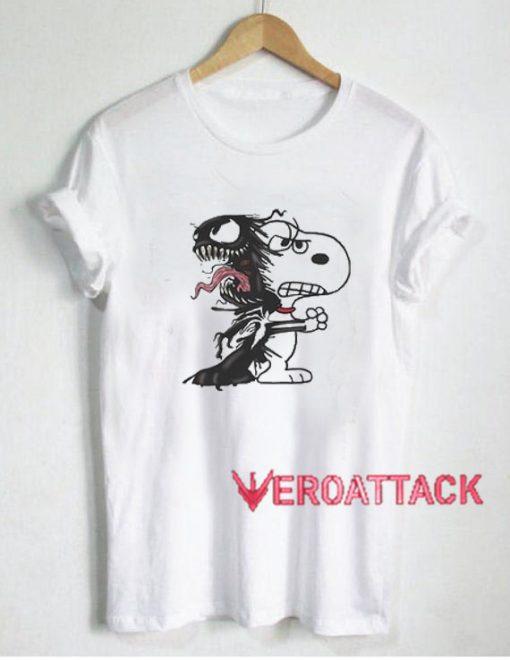 Snoopy and Venom T Shirt Size XS,S,M,L,XL,2XL,3XL