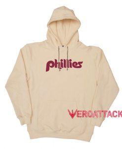 Phillies font 80s Cream Color Hoodie
