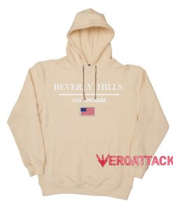 Beverly Hills LA Cream Color Hoodie