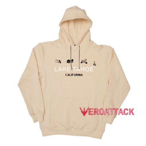 Lake Tahoe California Cream Color Hoodie