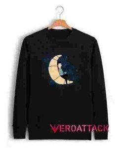 Ze Croissant Moon Unisex Sweatshirts