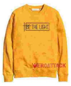 Be The Light Gold Yellow Unisex Sweatshirts