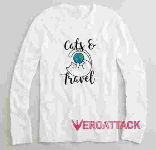 Cats and Travel Long sleeve T Shirt
