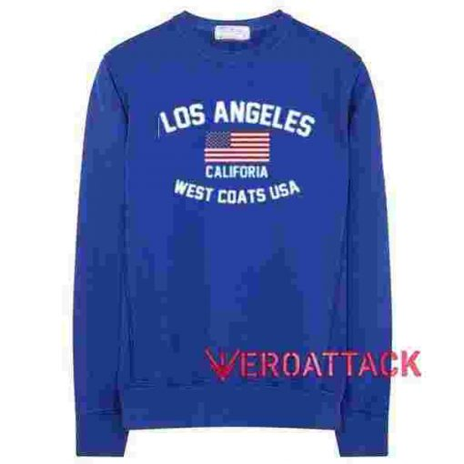 Los Angeles California West Coast USA Blue Unisex Sweatshirts