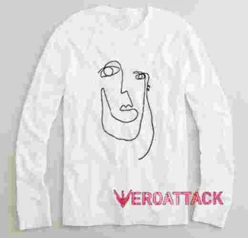 Picasso Woman Face Long sleeve T Shirt