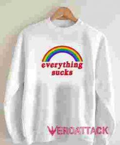 Rainbow Everything Sucks Long sleeve T Shirt