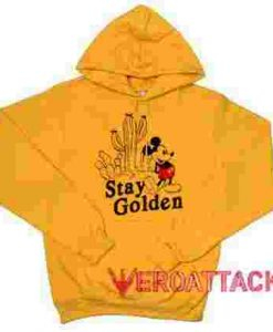 Stay Golden Mickey Mouse Gold Yellow color Hoodies