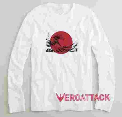 The Great Wave off Kanagawa Japan Flag Long sleeve T Shirt