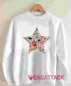 4th of July Icons Symbols Unisex Sweatshirts