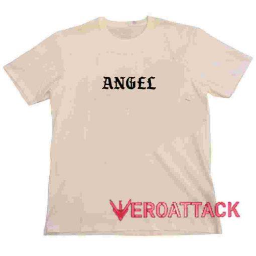 Angel Font Cream T Shirt Size S,M,L,XL,2XL,3XL