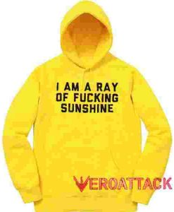 Fucking Sunshine Yellow color Hoodies