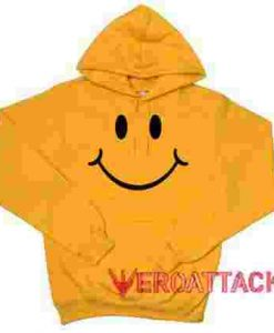 Happy Face Gold Yellow color Hoodies