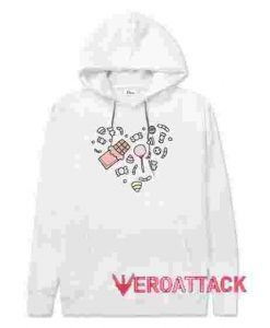 Love Candy White hoodie