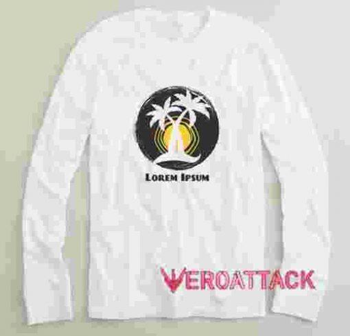 Palm Lorem Ipsum Long sleeve T Shirt