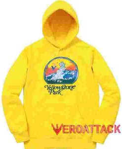Vintage Yellow Stone Park Yellow color Hoodies