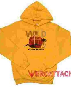 Wild at Heart Gold Yellow color Hoodies