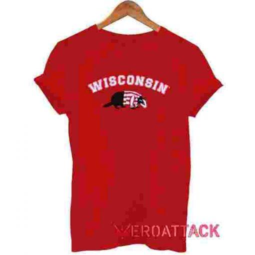 Wisconsin T Shirt Size XS,S,M,L,XL,2XL,3XL