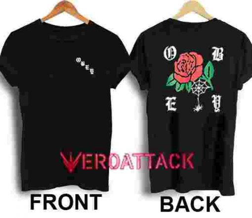 Obey Spider Rose New T Shirt Size XS,S,M,L,XL,2XL,3XL