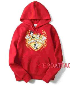 Animaniacs Red color Hoodies