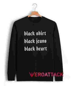 Black Heart Unisex Sweatshirts